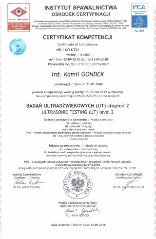 8_Badania_Ultradwikowe_UT2_wg_PN-EN_ISO_9712__-___Ultrasonic_Testing_UT2_to_PN-EN_ISO_9712