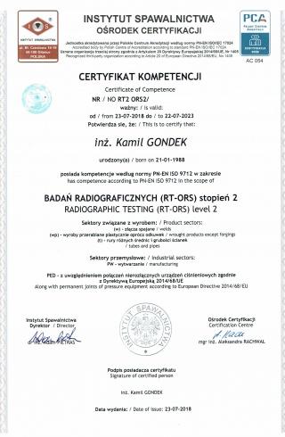 91_Badania_Radiograficzne_RT2-ORS_wg_PN-EN_ISO_9712__-___Radiographic_Testing_RT2-ORS_to_PN-EN_ISO_9712