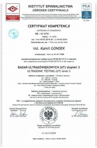 9_Badania_Ultradwikowe_UT3_wg_PN-EN_ISO_9712__-___Ultrasonic_Testing_UT3_to_PN-EN_ISO_9712